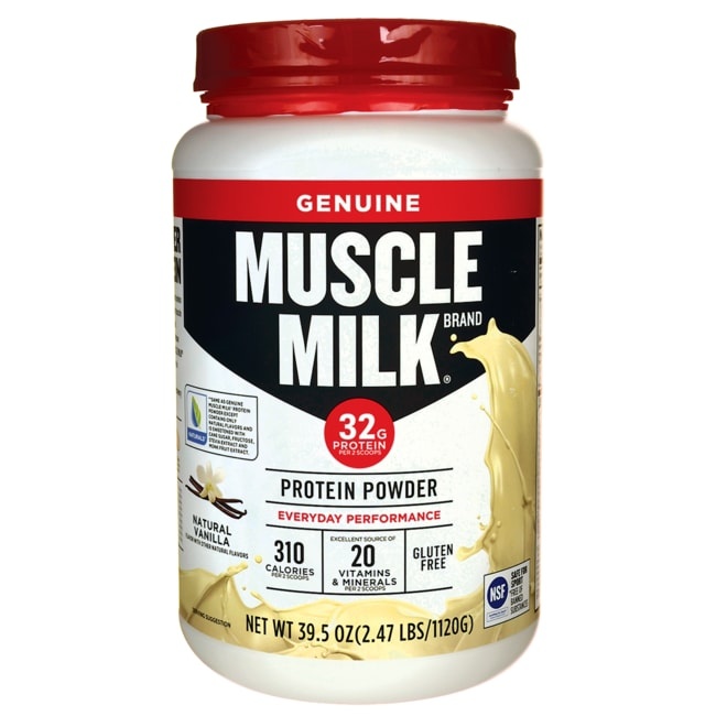 CytoSport Muscle Milk Lean Muscle Protein Powder - Natural Vanill