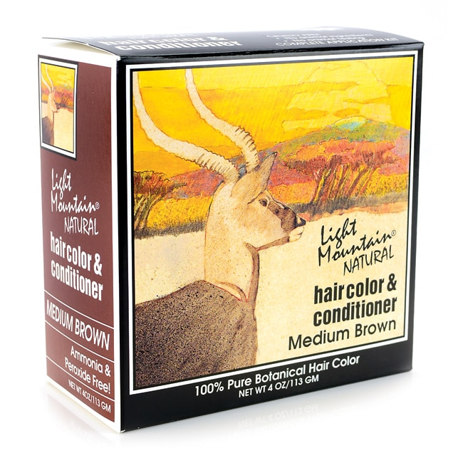Light MountainNatural Hair Color & Conditioner - Medium Brown
