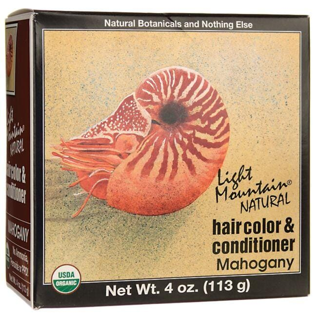 Light Mountain Hair Color & Conditioner - Mahogany