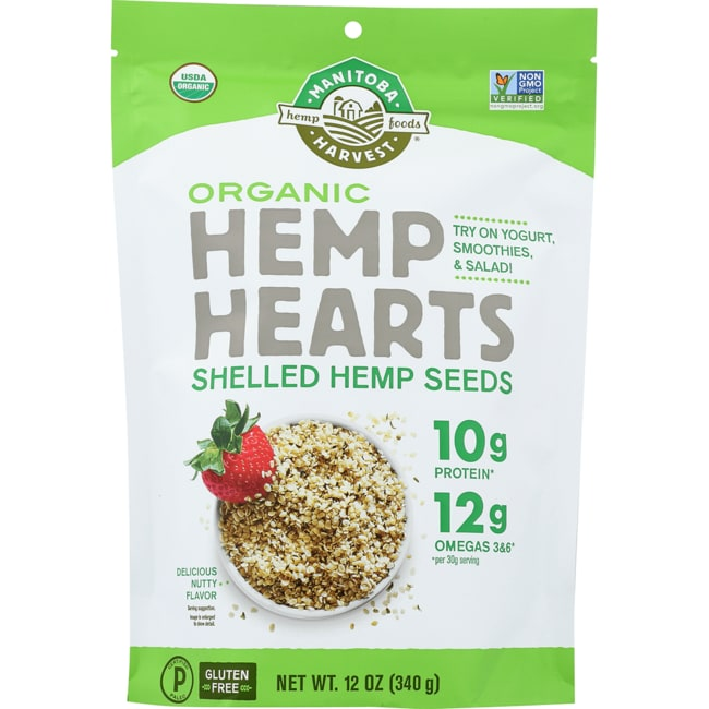 Manitoba HarvestHemp Hearts Raw Shelled Hemp Seeds - Organic