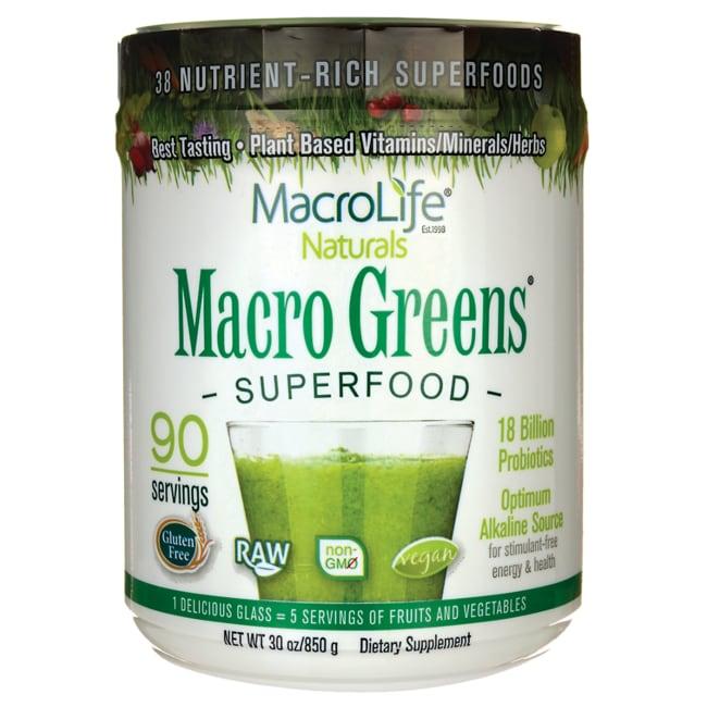 MacroLife Naturals Macro Greens Nutrient-Rich Super Food