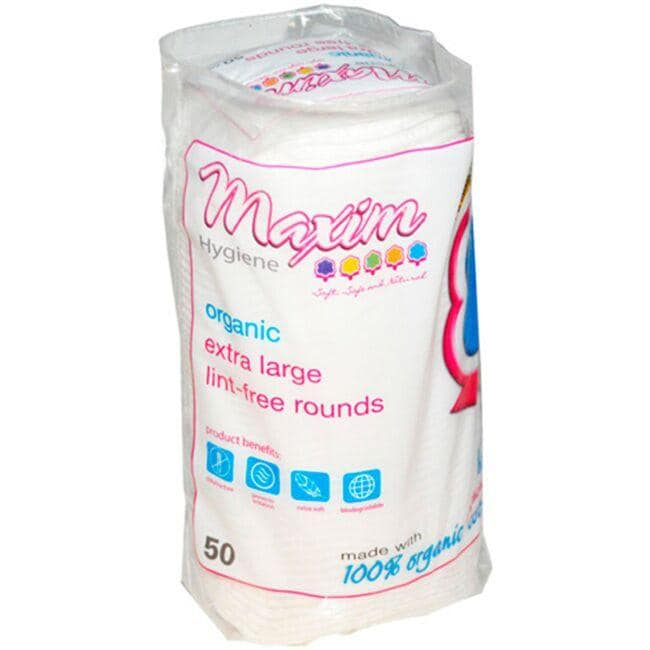 Maxim Hygiene Products Organic Extra Large Lint-Free Rounds
