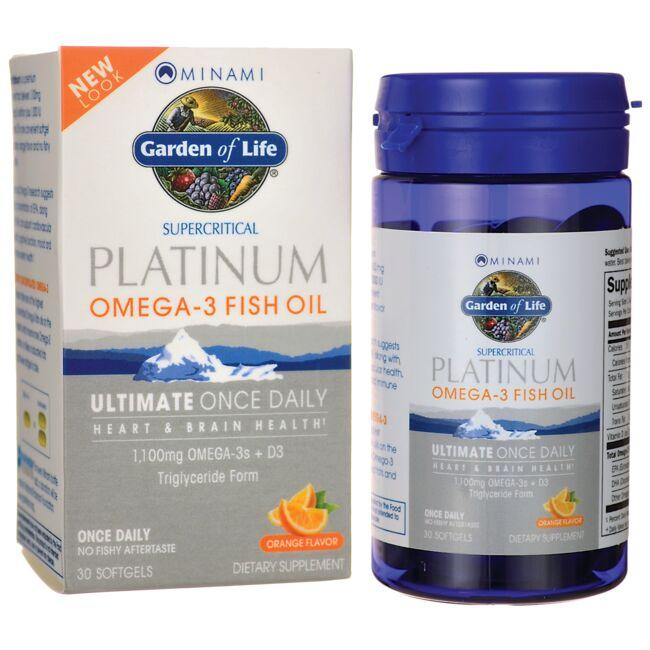 Minami Nutrition Supercritical Platinum Omega-3 Fish Oil - Orange