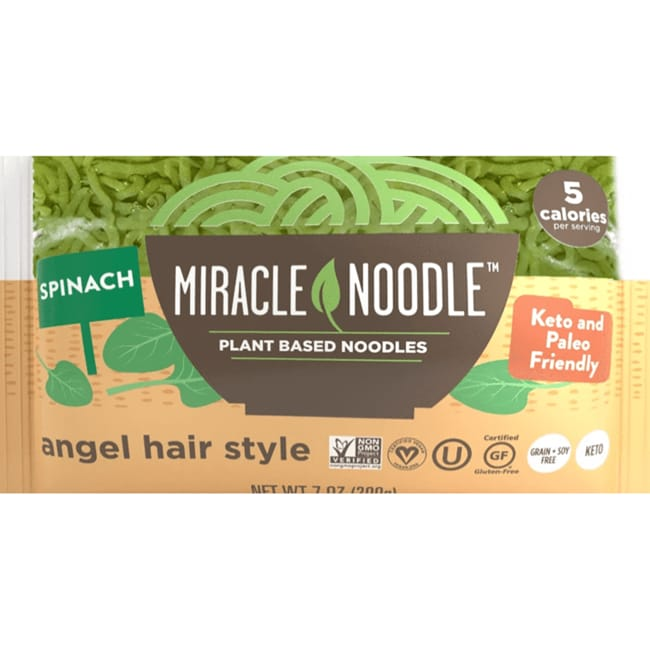 Miracle Noodle Shirataki Spinach Angel Hair