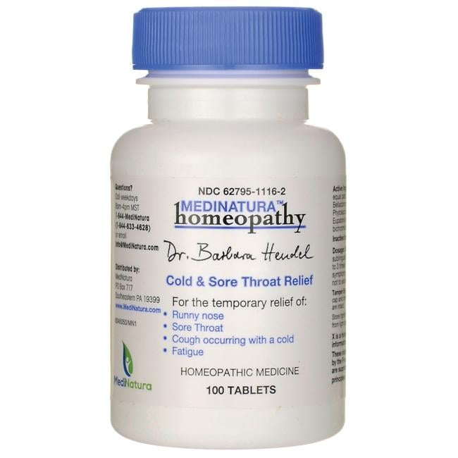 MediNatura Cold & Sore Throat Relief