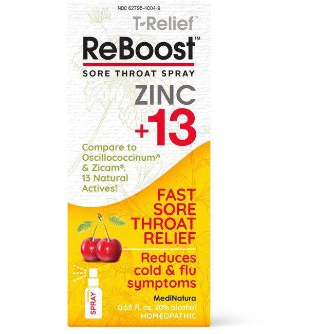 MediNaturaT-Relief ReBoost Zinc +13 Sore Throat Spray - Cherry