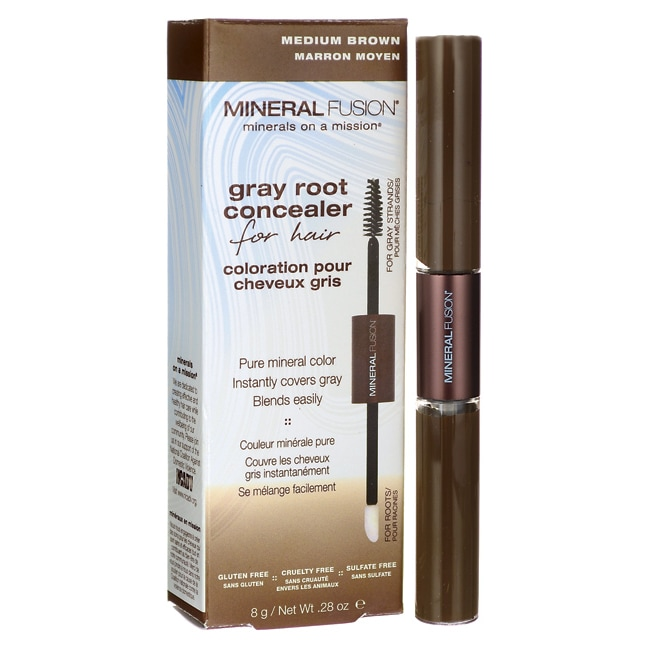 Mineral Fusion Gray Root Concealer For Hair Medium Brown