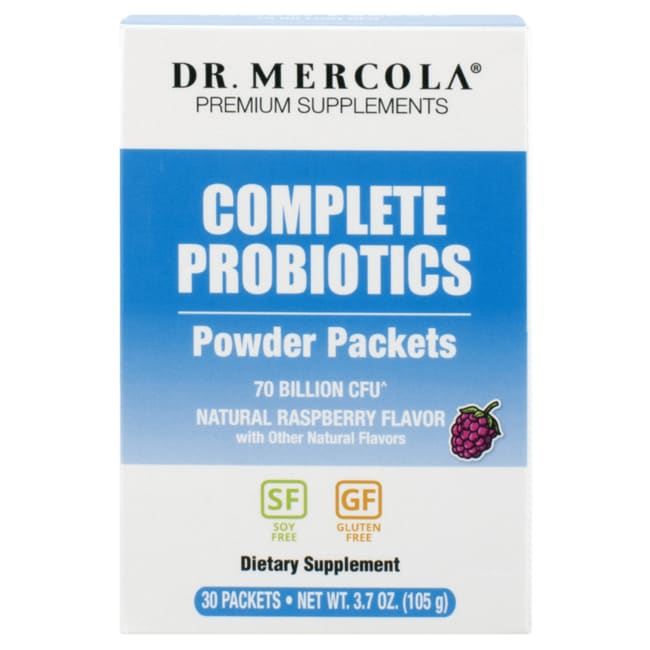 Dr. MercolaComplete Probiotics Powder Packets - Raspberry Flavor