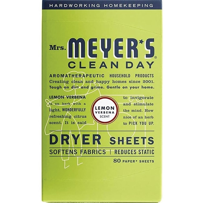 Mrs. Meyer's Clean Day Dryer Sheets - Lemon Verbena