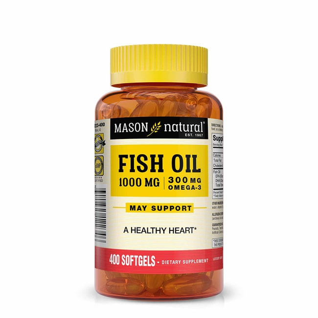 Mason natural omega 3 fish oil 1 000 mg 400 sgels for Omega 3 fish oil reviews
