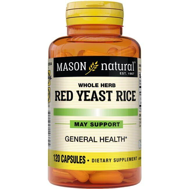 Mason Natural Whole Herb Red Yeast Rice