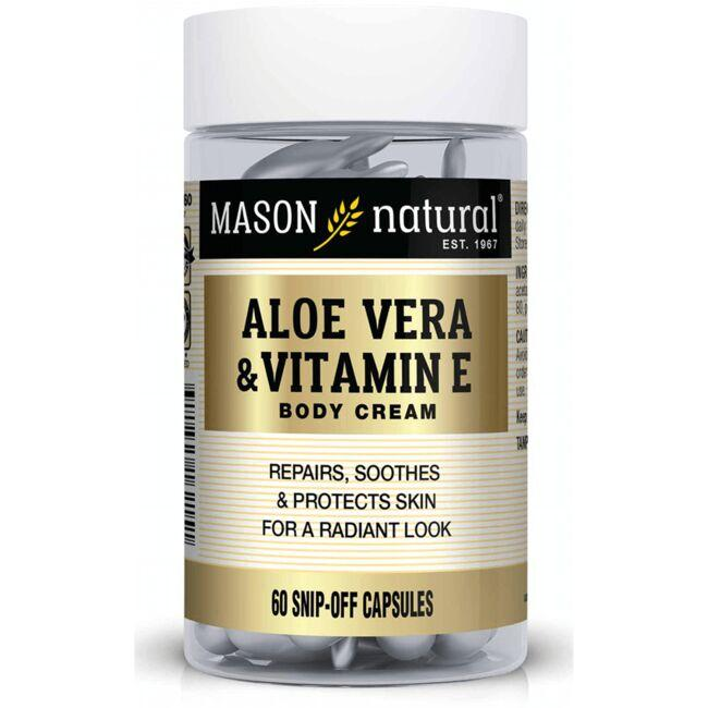 Mason Natural Aloe Vera & Vitamin E Body Cream - Snip Off Capsules
