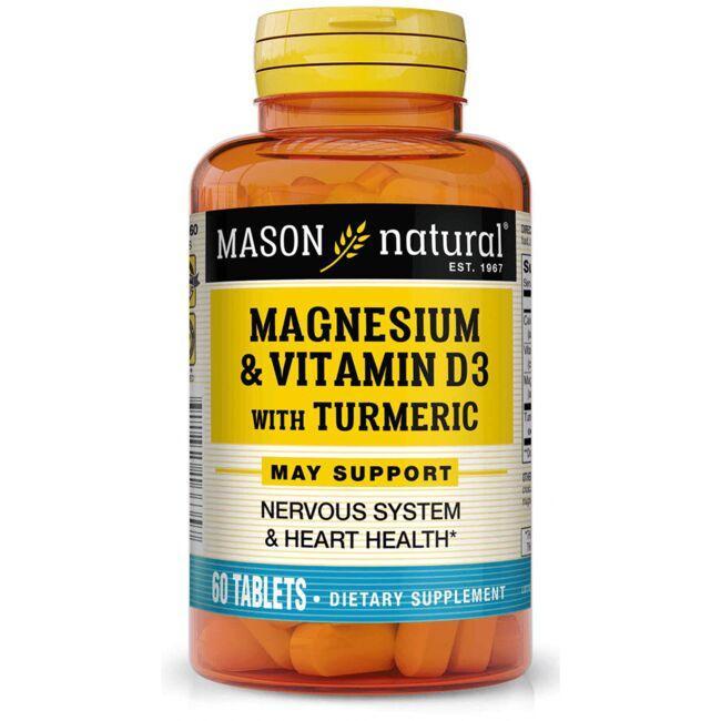 Mason NaturalMagnesium & Vitamin D3 with Turmeric