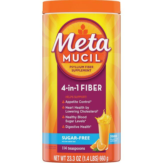 Metamucil Psyllium Fiber Sugar Free - Orange
