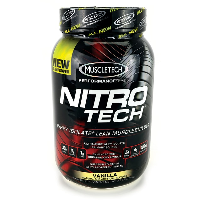 MuscleTech NitroTech Whey Isolate Lean Musclebuilder - Vanilla