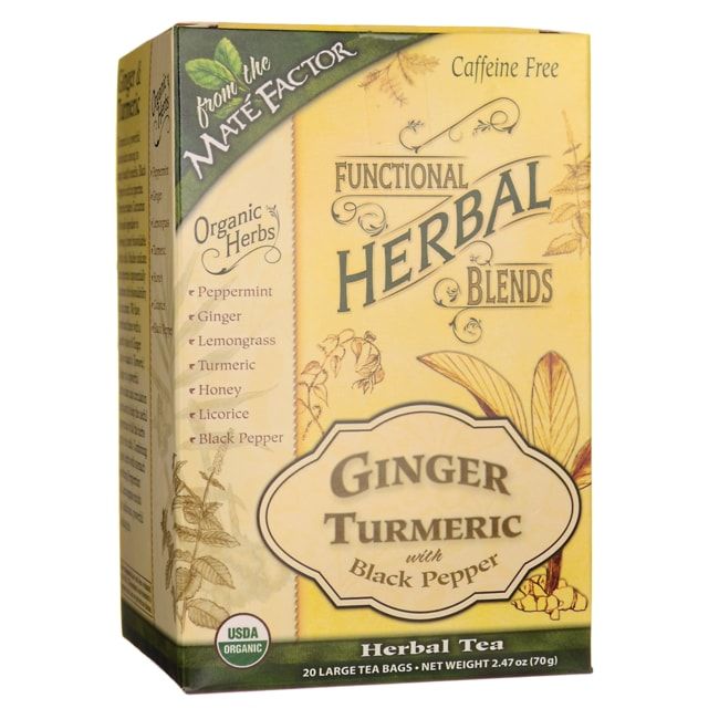 Mate FactorFunctional Herbal Blends - Ginger Turmeric with Black Pepper