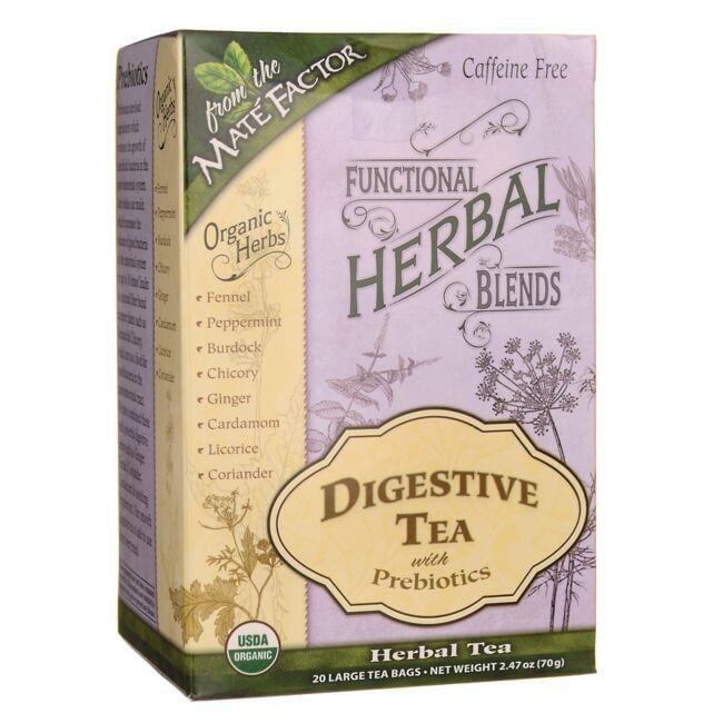 Mate FactorFunctional Herbal Blends - Digestive Tea with Prebiotics
