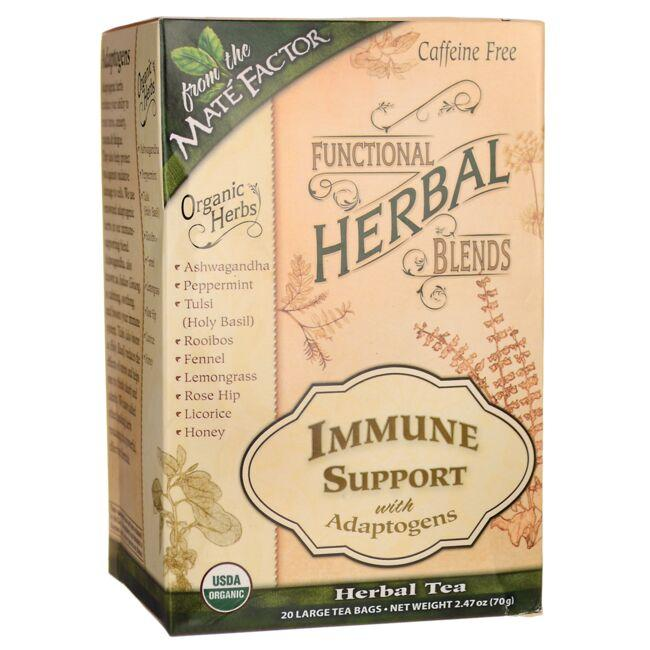 Mate FactorFunctional Herbal Blends Tea - Immune Support with Adaptogens
