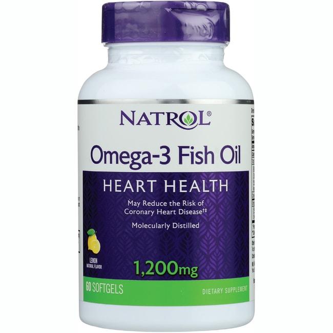 Natrol omega 3 fish oil lemon 1 200 mg 60 sgels swanson for Lemon fish oil