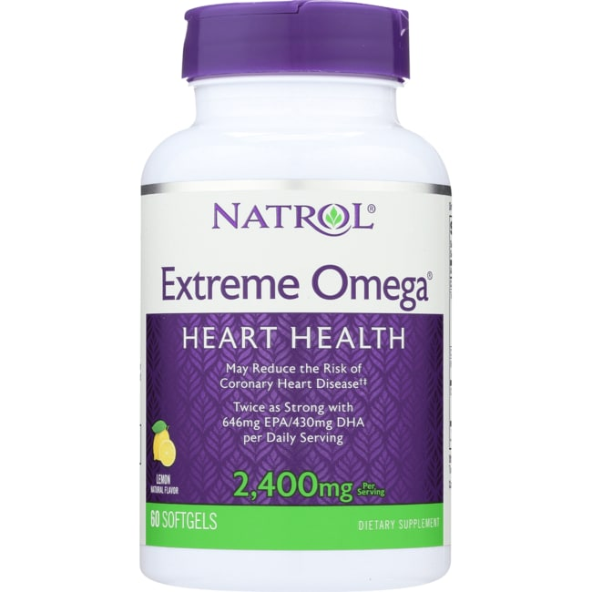 Natrol Extreme Omega Fish Oil Lemon Flavored