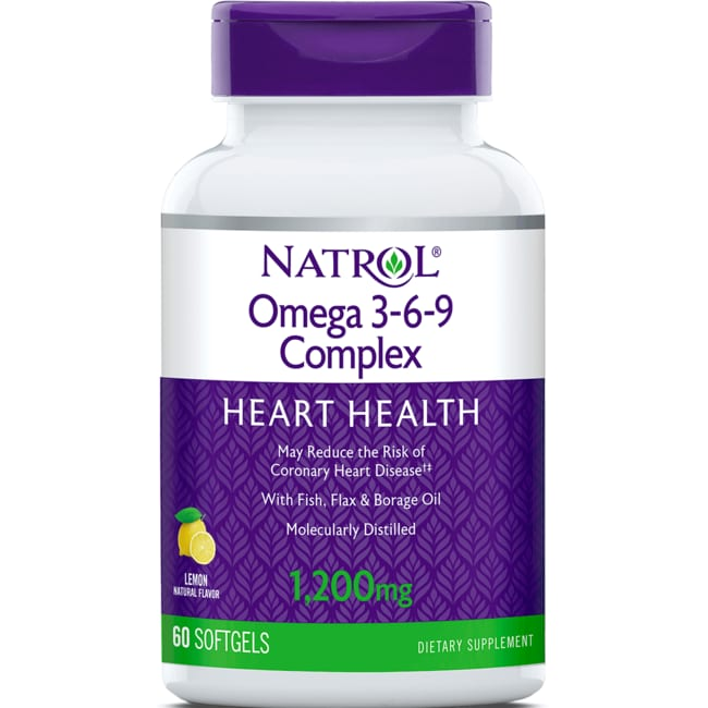 NatrolOmega 3-6-9 Complex Lemon
