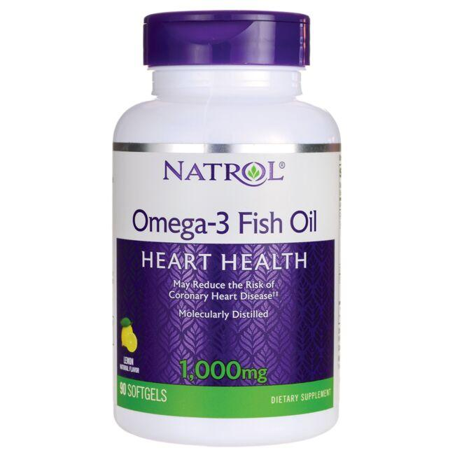 Natrol Omega-3 Fish Oil - Lemon