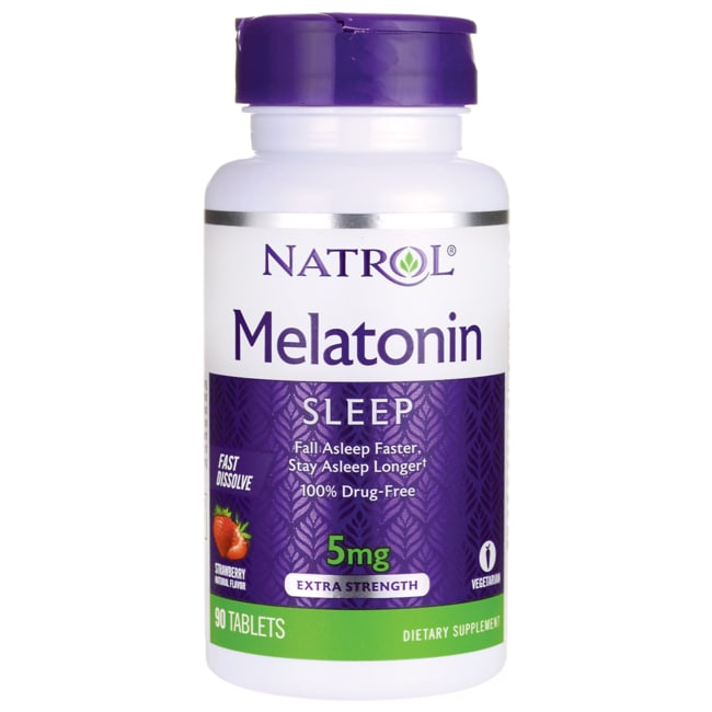 NatrolMelatonin Fast Dissolve - Natural Strawberry Flavor