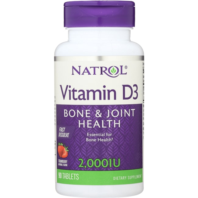 Natrol Vitamin D3 Fast Dissolve - Strawberry Flavor