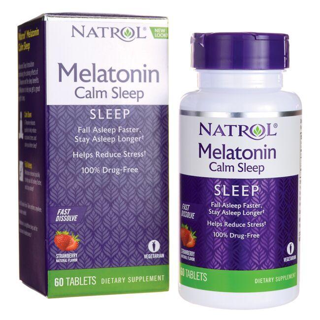 NatrolMelatonin Calm Sleep Fast Dissolve - Strawberry
