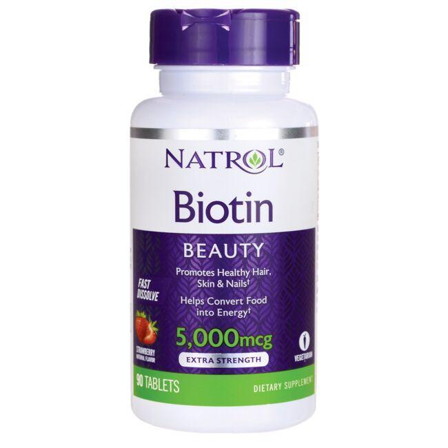 NatrolBiotin Fast Dissolve - Strawberry