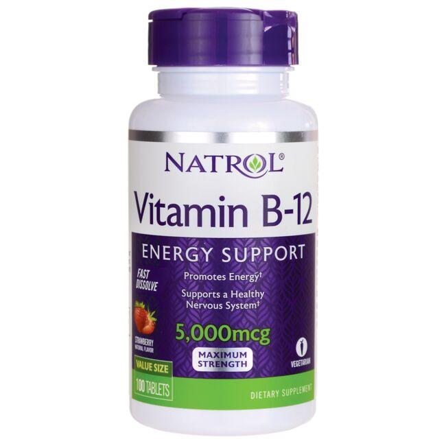 NatrolVitamin B-12 Fast Dissolve - Strawberry