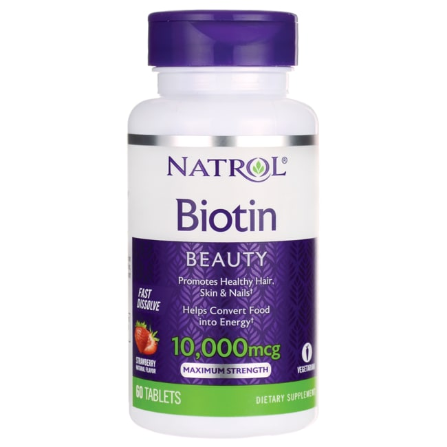 NatrolBiotin Fast Dissolve - Natural Strawberry Flavor