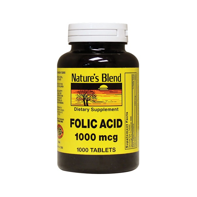 Nature's Blend Folic Acid 1000 mcg