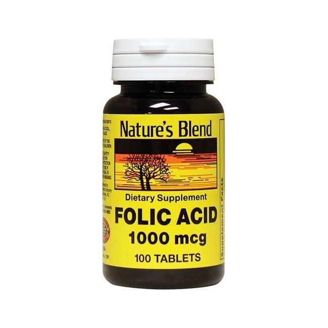 Nature's BlendFolic Acid 1000 mcg