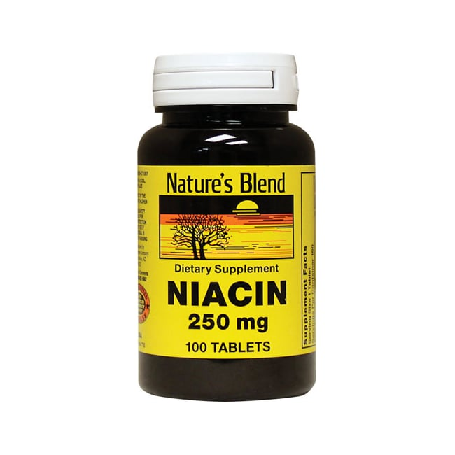 Nature's Blend Niacin 250 mg