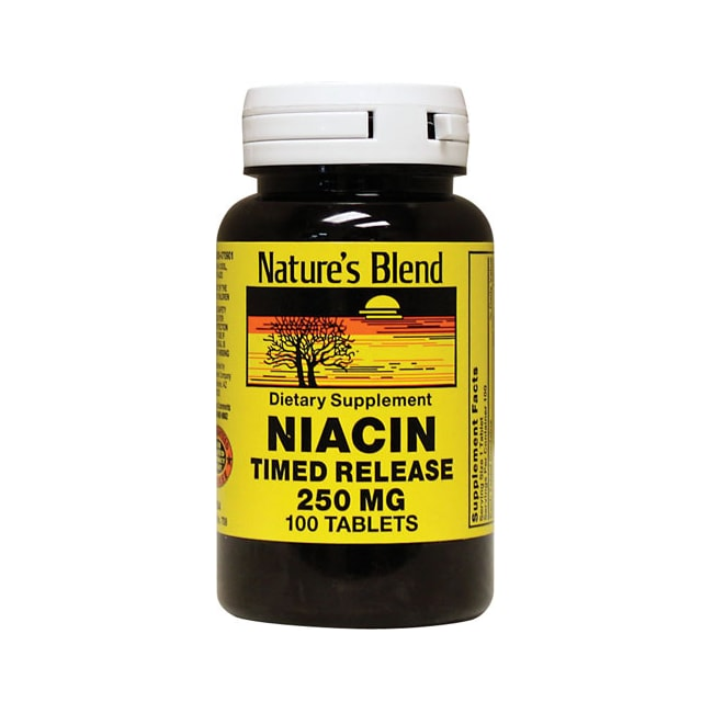 Nature's Blend Niacin Timed Release 250 mg