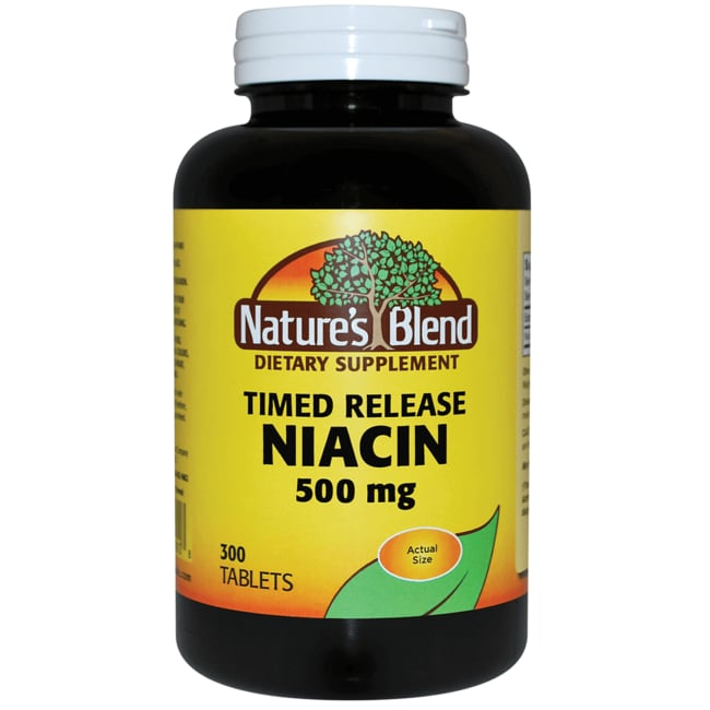 Nature's Blend Niacin Timed Release 500 mg