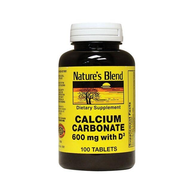 Nature's Blend Calcium Carbonate with Vitamin D3