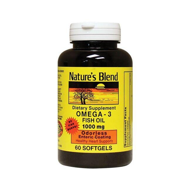 Nature's BlendOdorless Omega-3 Fish Oil Mercury Free