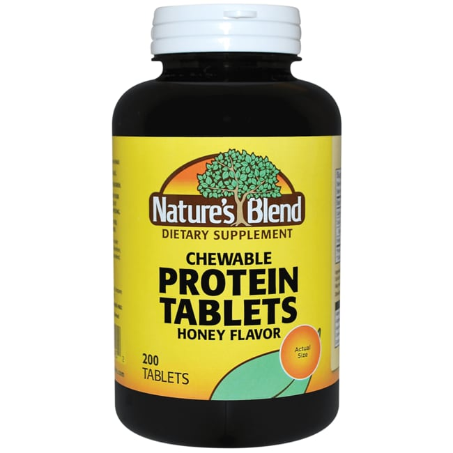 Nature's Blend Protein Tablets Honey Flavor