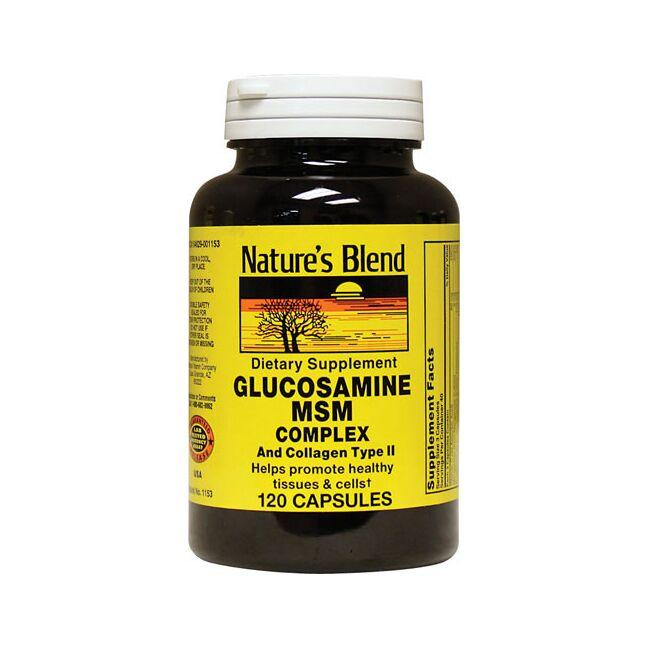 Nature's Blend Glucosamine MSM Complex and Collagen Type II