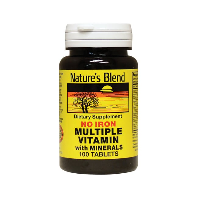 Nature's BlendMultiple Vitamin with Minerals No Iron
