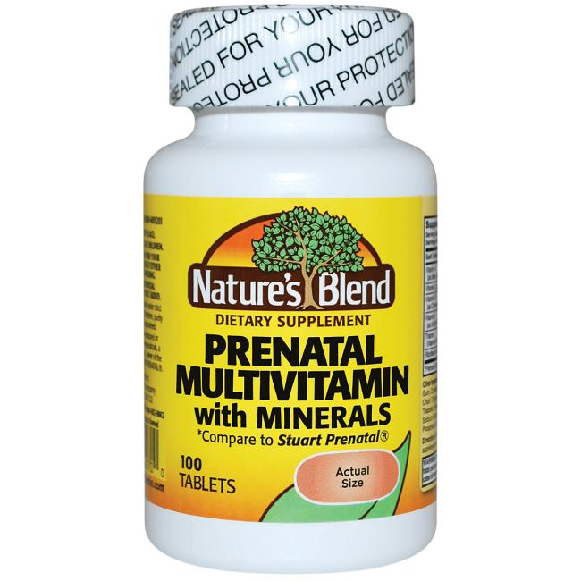 Nature's Blend Prenatal Multivitamin with Minerals