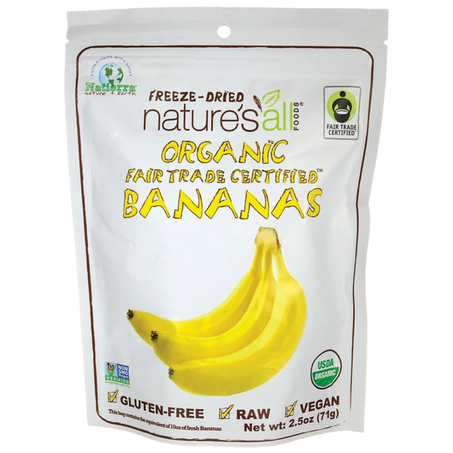 Nature's All FoodsOrganic Fair Trade Freeze Dried Banana