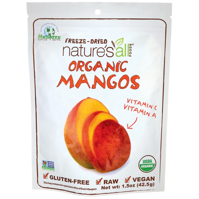 Nature's All Foods Organic Fair Trade Freeze Dried Mango