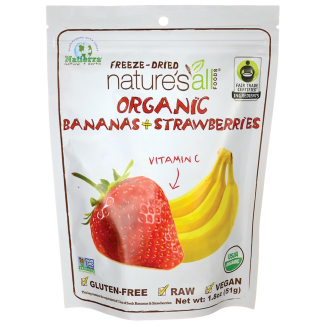 Nature's All FoodsOrganic Freeze-Dried Bananas + Strawberries
