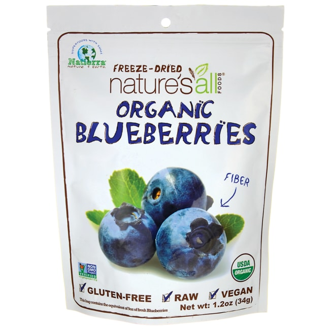 Nature's All Foods Organic Freeze-Dried Blueberries