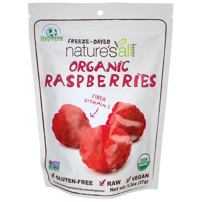 Nature's All Foods Organic Freeze-Dried Raspberries