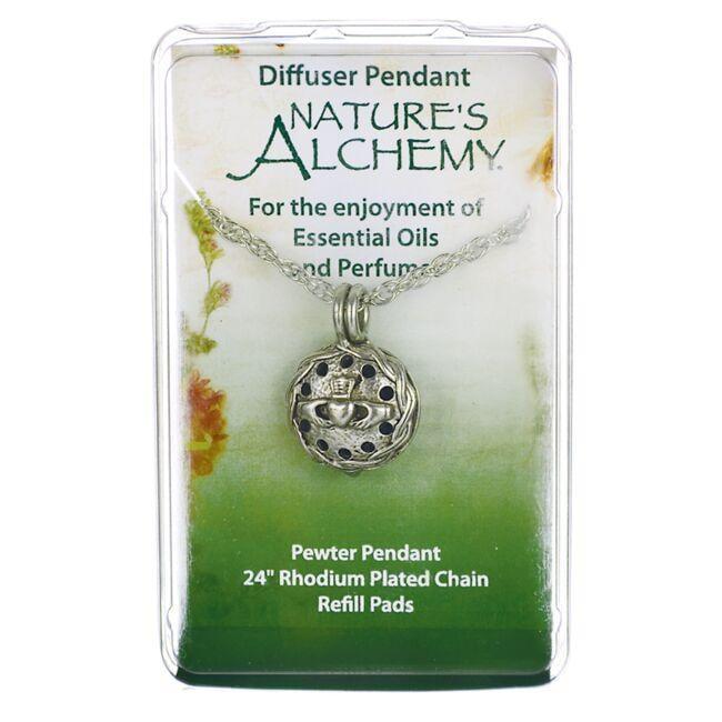 Nature's AlchemyIrish Claddagh Diffuser Pendant Necklace