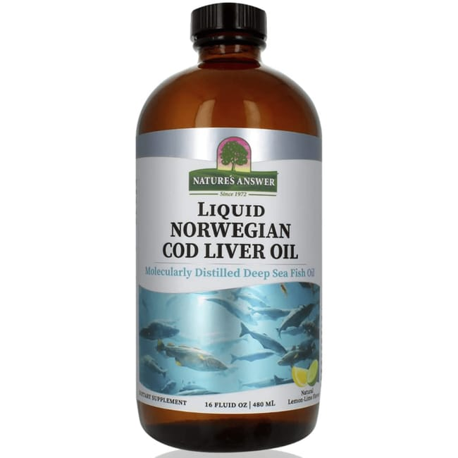 Nature's Answer Liquid Norwegian Cod Liver Oil - Lemon-Lime